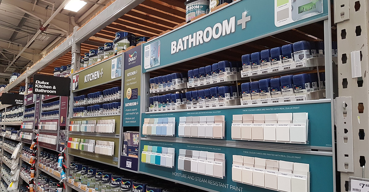 Dulux Value Added Retail B&Q Display