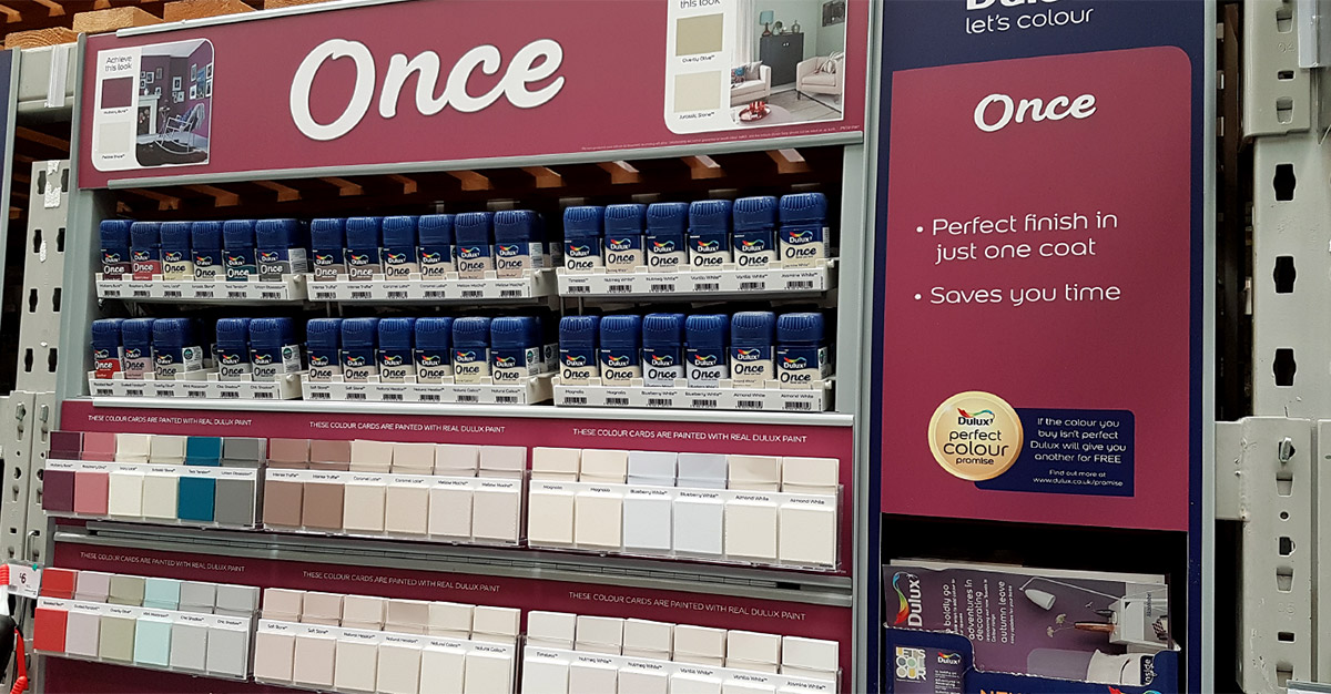 Dulux Value Added Once Display B&Q