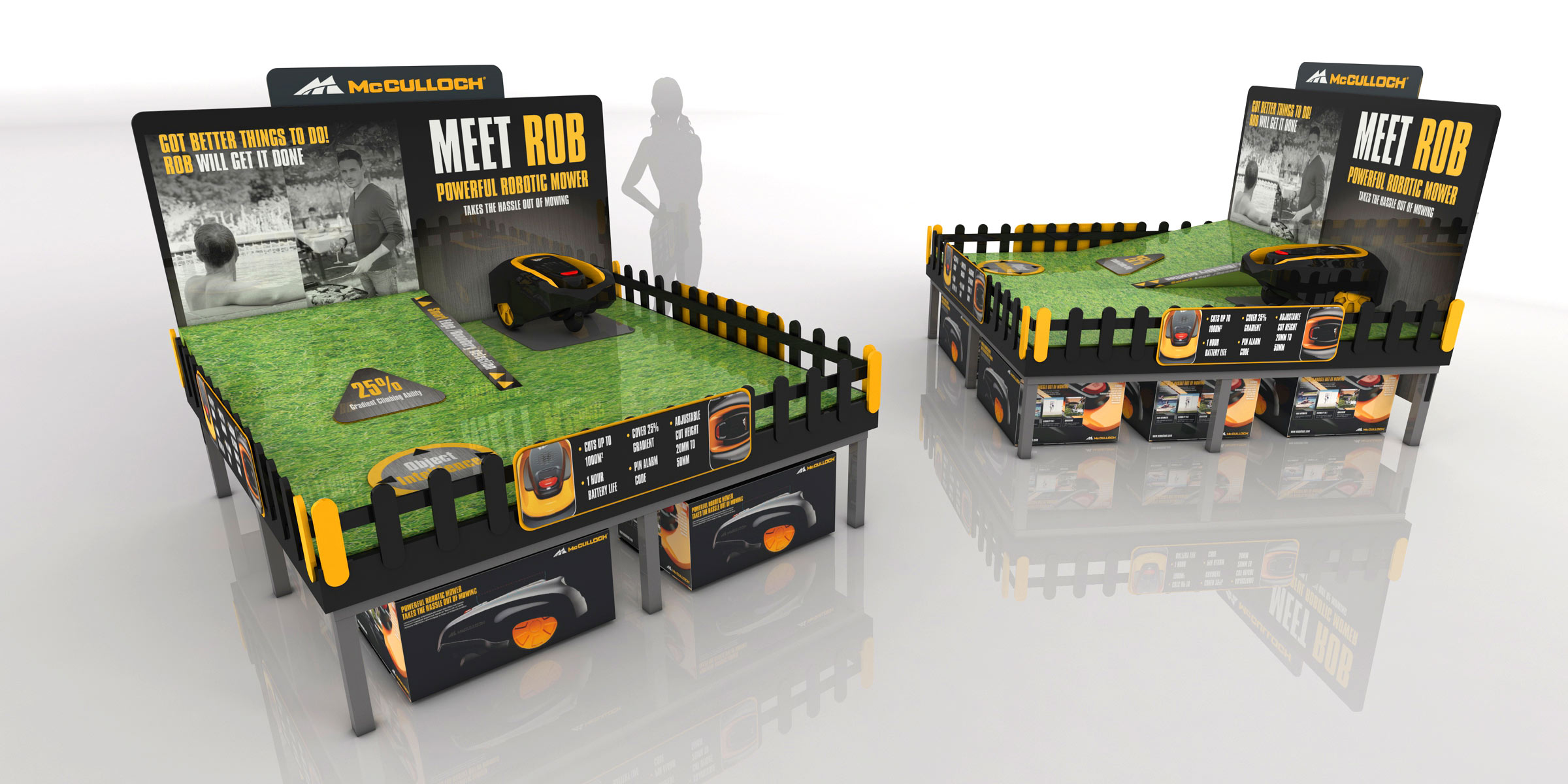 McCulloch robotic mower demo area