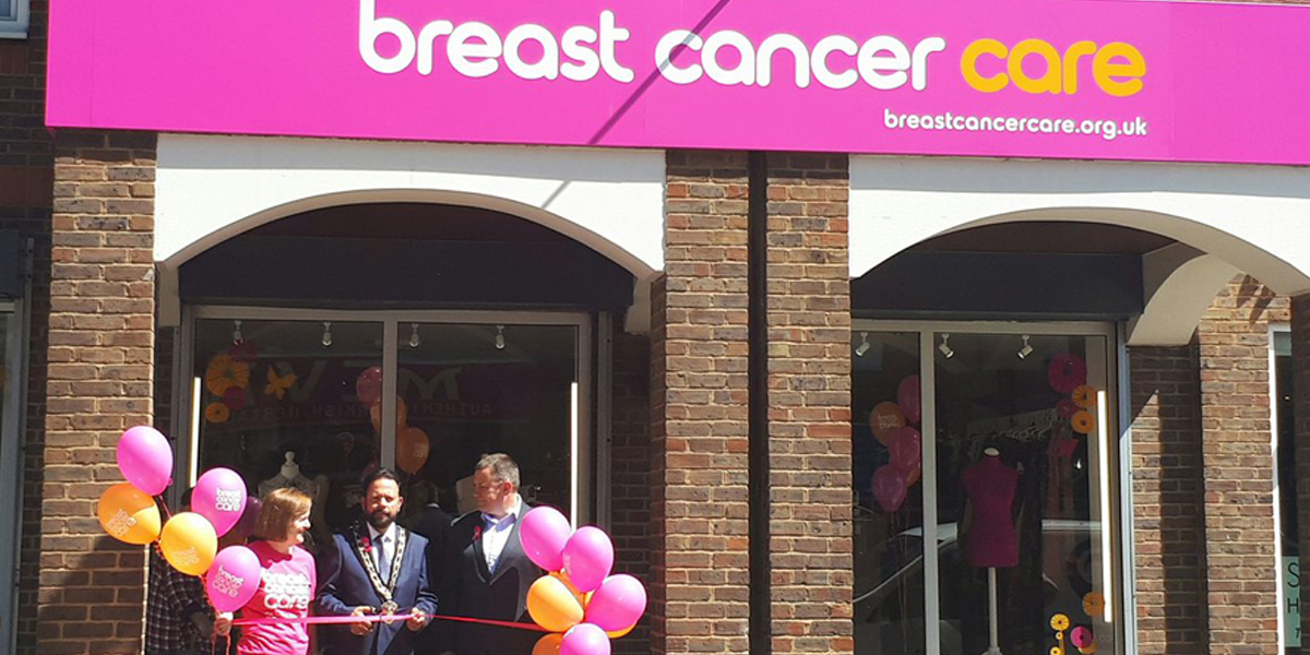 Breast Cancer Care charity store opens