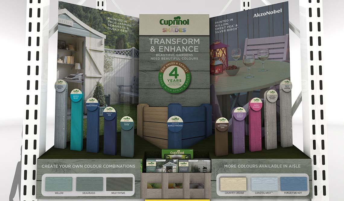 Cuprinol Transform & Enhance POS Retail POS Display   Cirka Creative