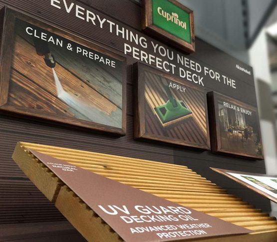 Homebase Decking Retail POS Display Cuprinol - Cirka Creative