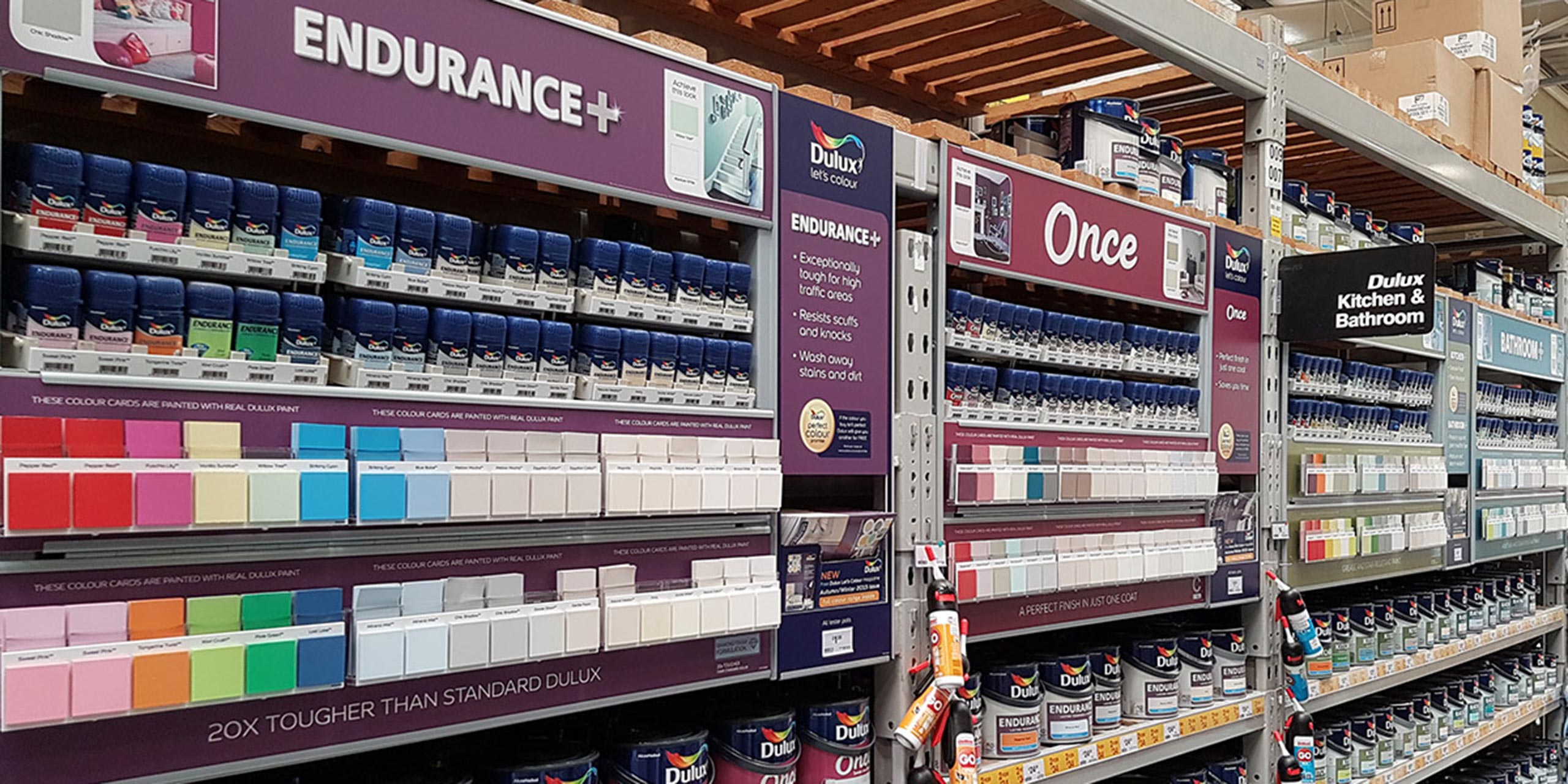 Dulux Value Added Range POS Retail Display - Cirka