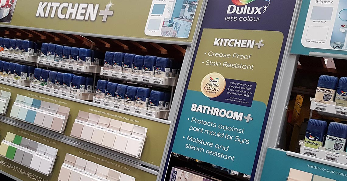 Dulux Bathroom Range POS Retail Display - Cirka