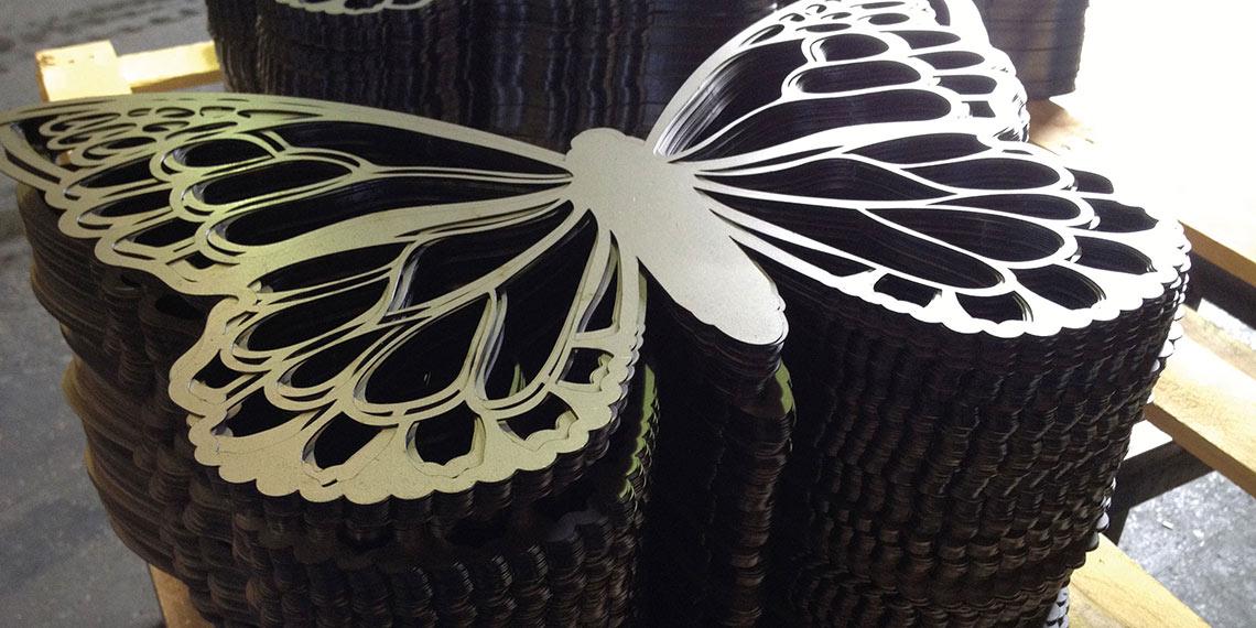 Mulberry Laser Cut Butterfly POS Retail - Cirka Creative