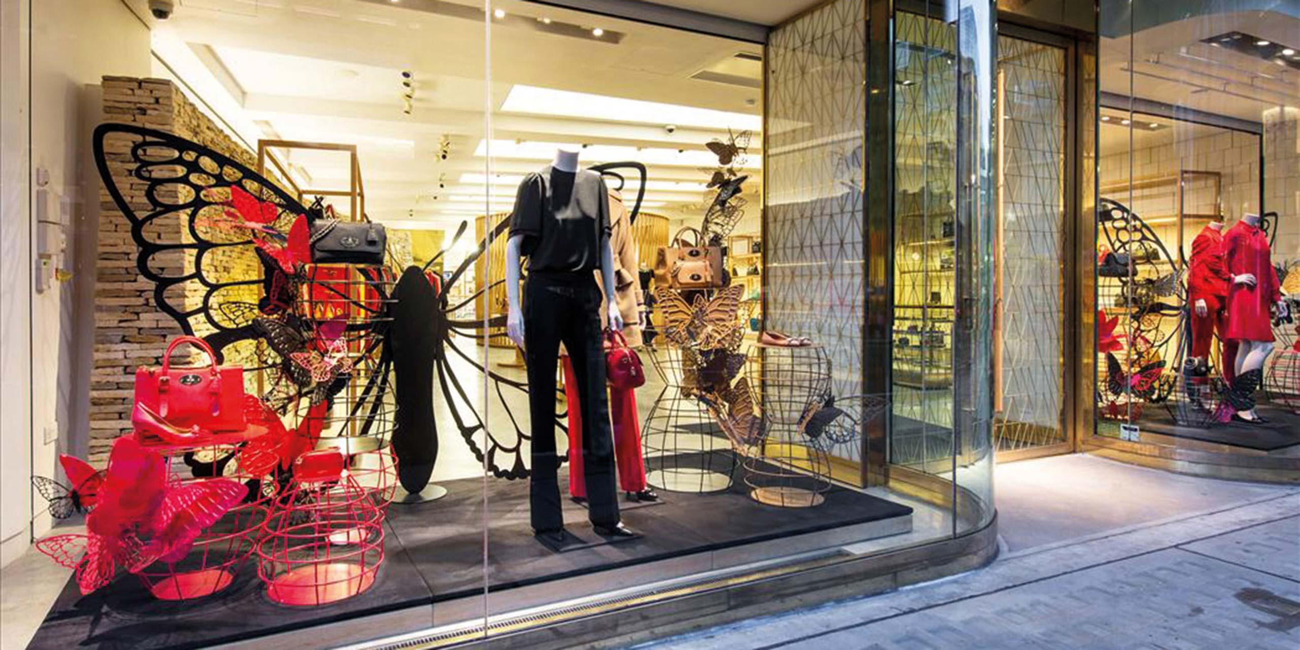 Mulberry London Retail Window Display - Cirka Creative