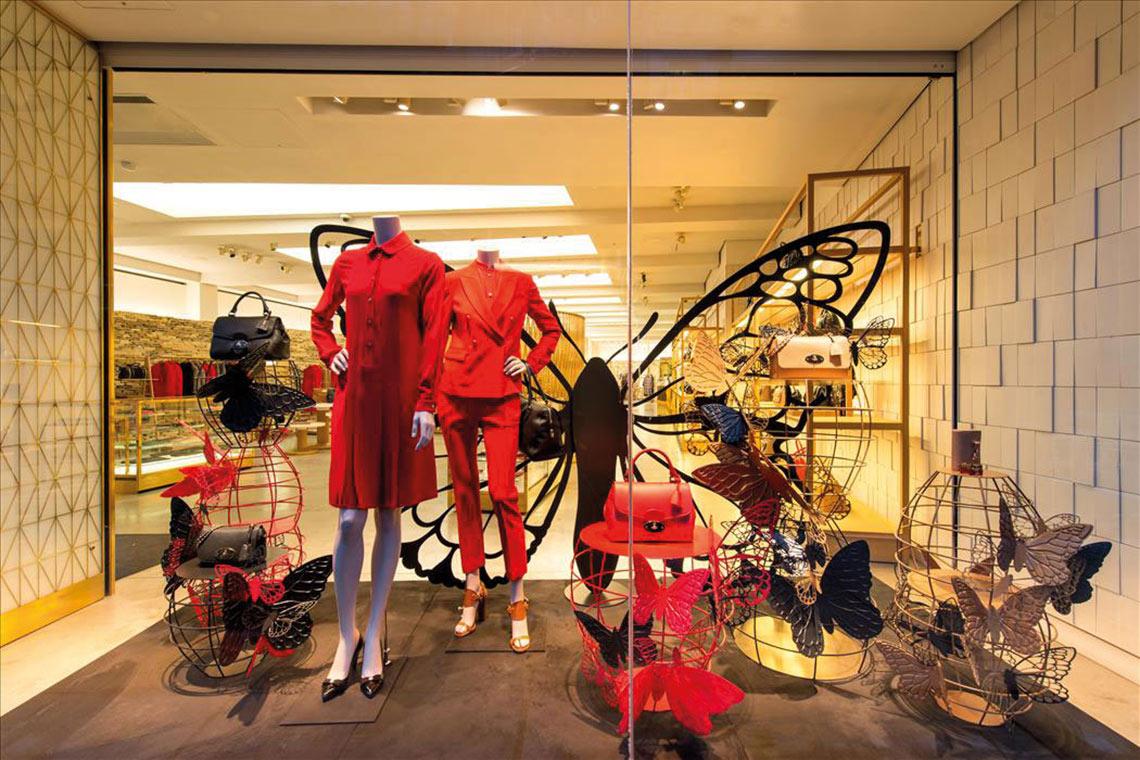 Mulberry POS Retail Window Display - Cirka Creative