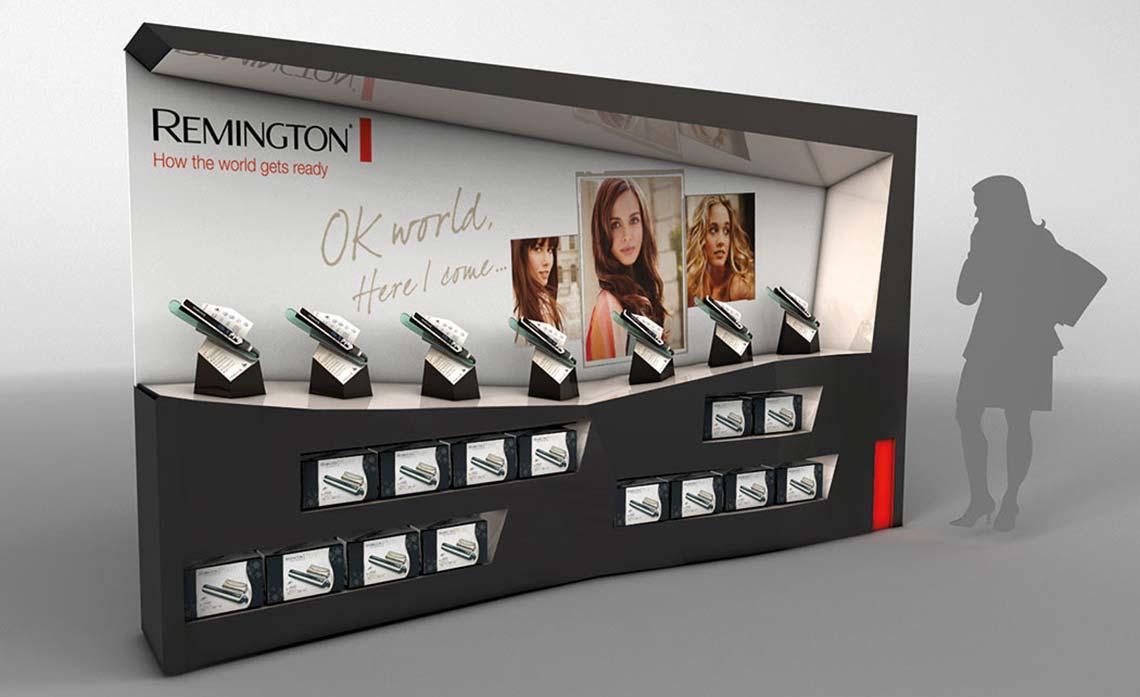 Remington Straighteners - POS Retail Unit