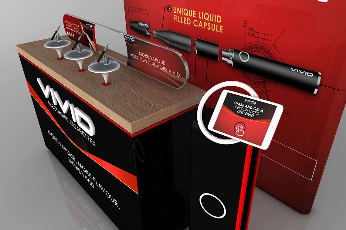 Vivid E-Cigarette POS Top Display - Cirka Creative