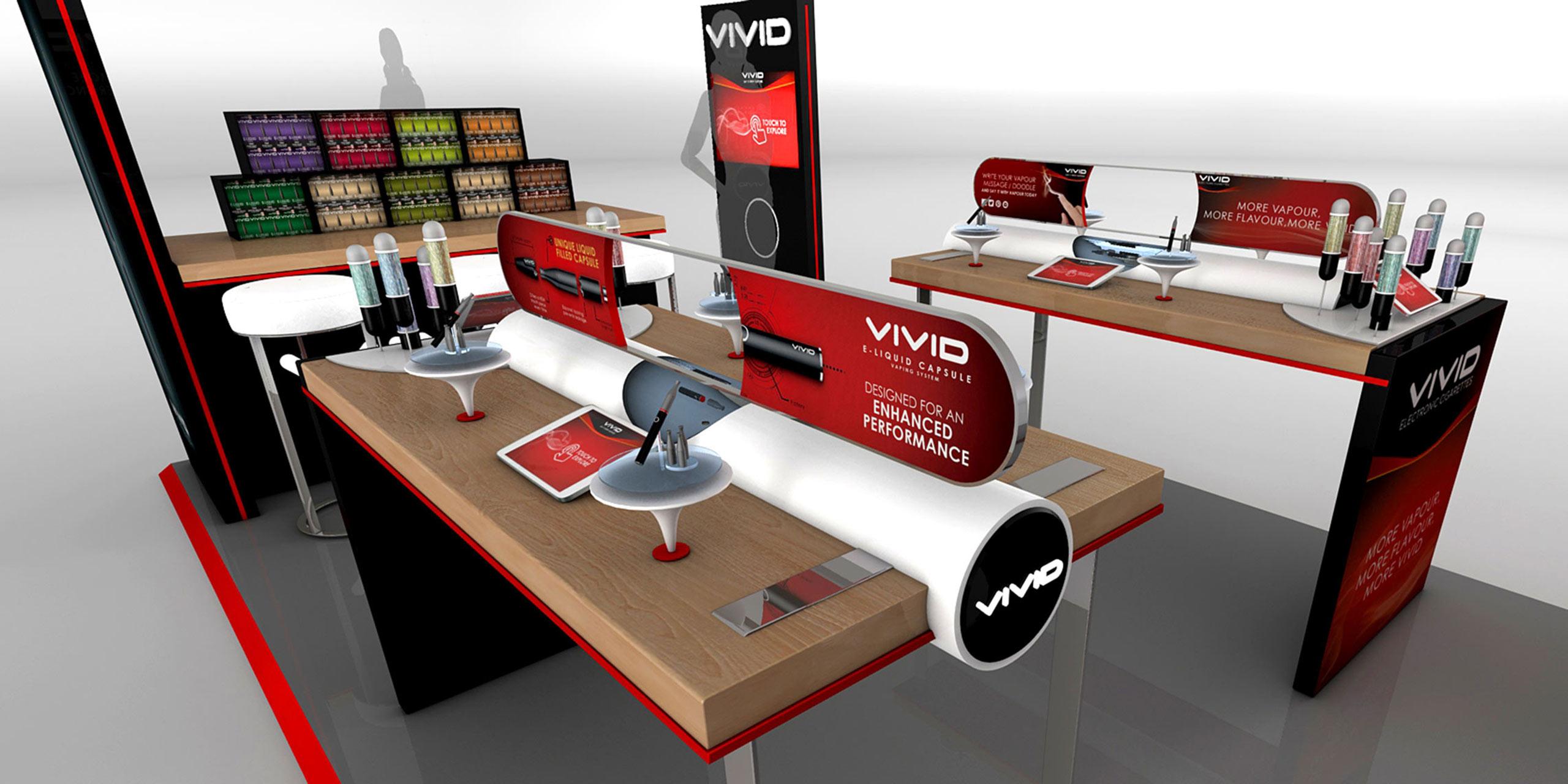 Vivid E-Cigarette POS Retail Display - Cirka Creative