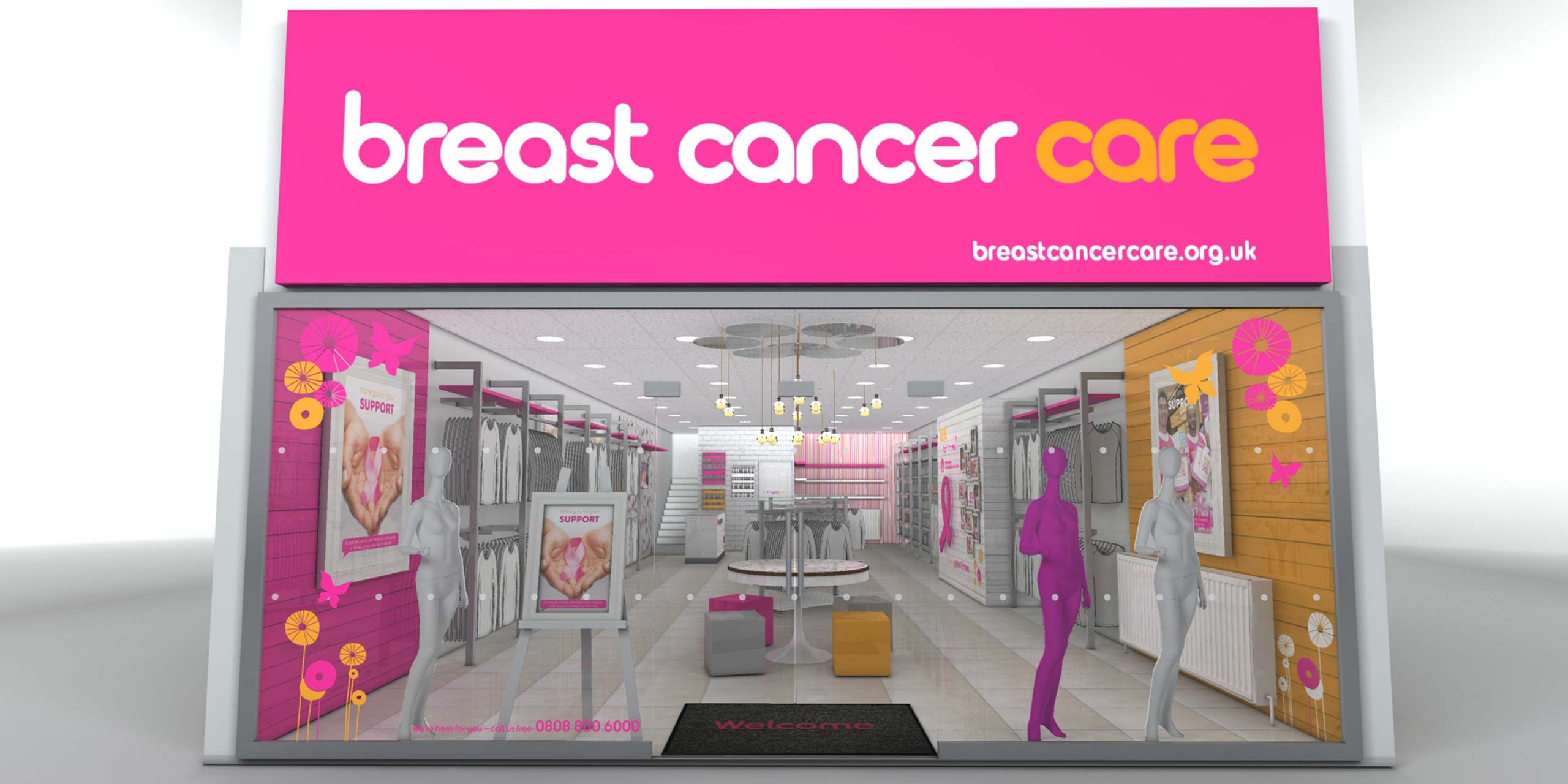 Breast Cancer Care - Store Render Cirka Retail Design